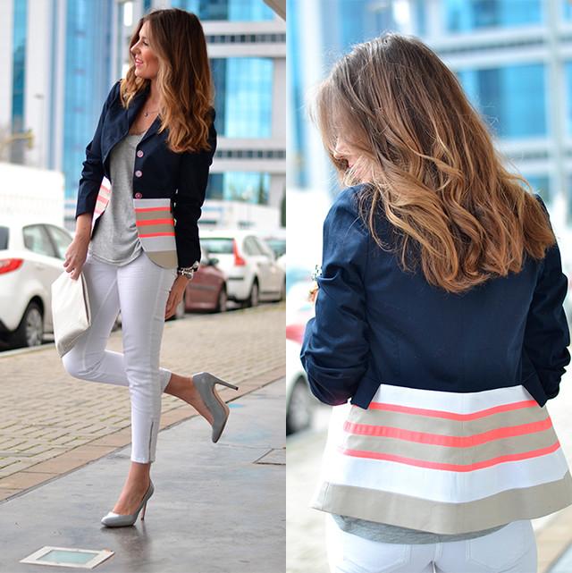 Una bonita y original chaqueta con mil maneras de combinar. Yo opte por algo mas casual!!!!! ;)