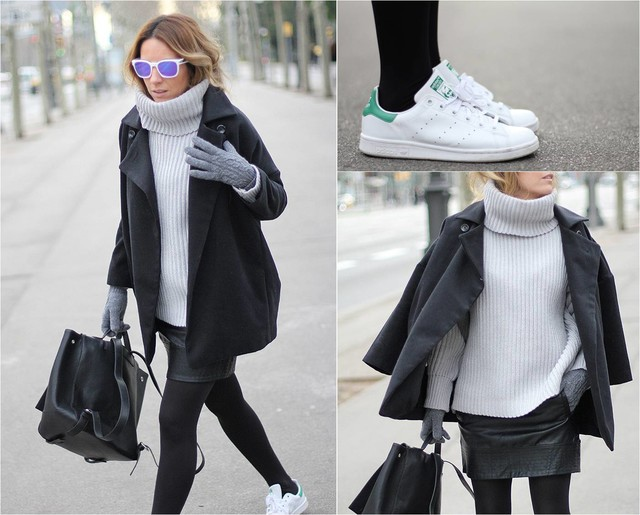 Minimal chic style with my new Stan Smith Adidas sneakers.